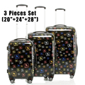 "2017 New Hardside Trolley Rolling Luggage Suitcase Air-craft Printing 3 Pieces Set (20""+24""+28"")  Luggage Sets Women Men Luggage"