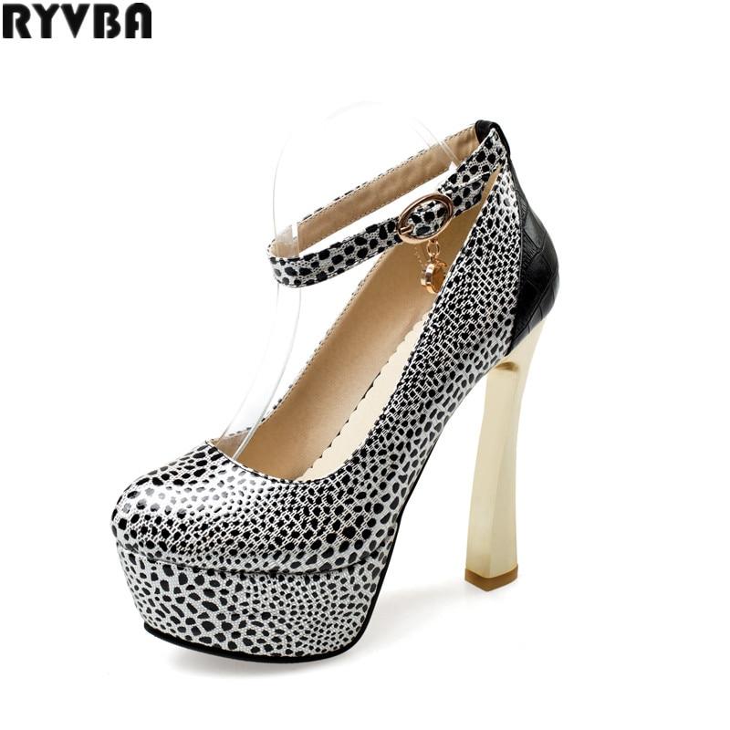 ✓Ryvba женщина круглый носок супер Обувь на высоком каблуке туфли ... 62d2424e463