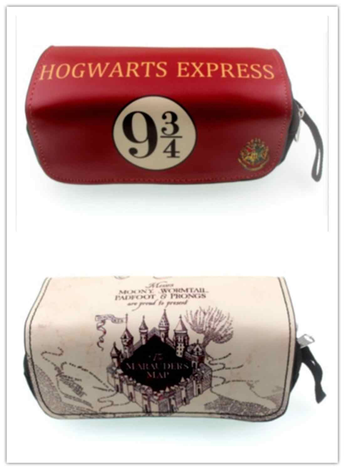 Harre potter Logo Pencil Case Girls Cosmetic Bag New Students Stationery Bag Boys Girls Coin Bag
