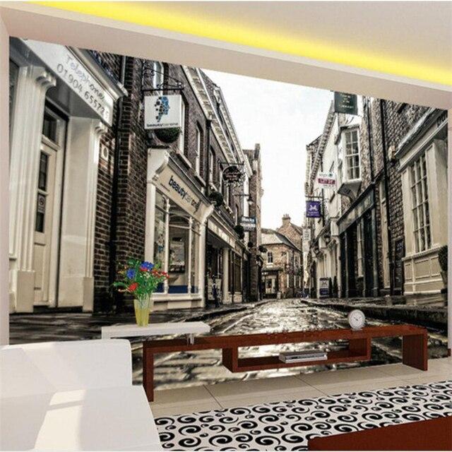 Beibehang Custom Foto Behang 3D Europese Stad Oude Straat Woonkamer ...