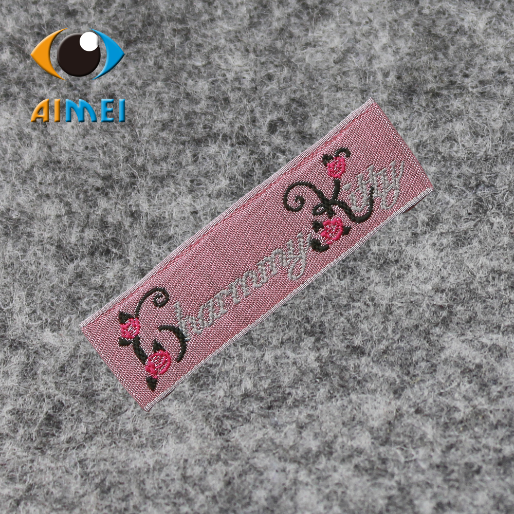 Free Design & Free Shipping Customized 1000pcs/lot cotton Casual Women or men clothing labels / woven labels/ main labels W001