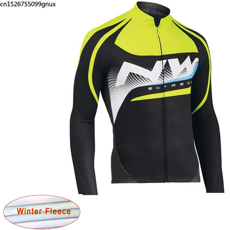 2019 new NW Keep Warm Cycling Jersey winter Long Sleeve Racing Bike Mountain cycling clothing Maillot Ropa Ciclismo Hombre C28(China)