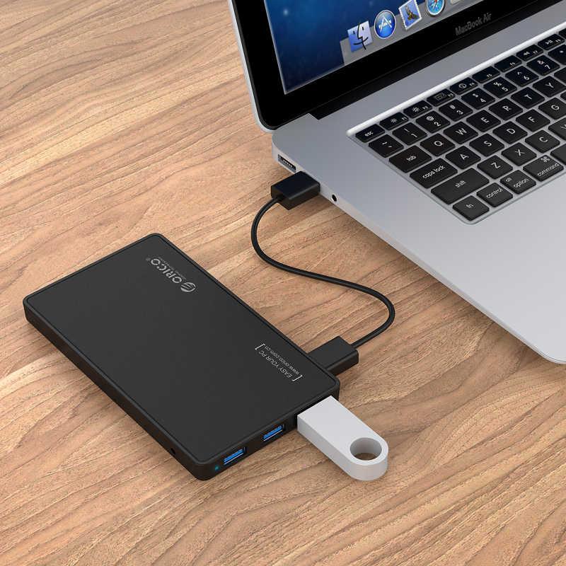 ORICO 2588H3 2.5 HDD muhafaza USB 3.0 sabit disk muhafazası 3 Portlu USB3.0 HUB Aracı Ücretsiz Tasarım Sürücü 5V2A Güç Adaptörü