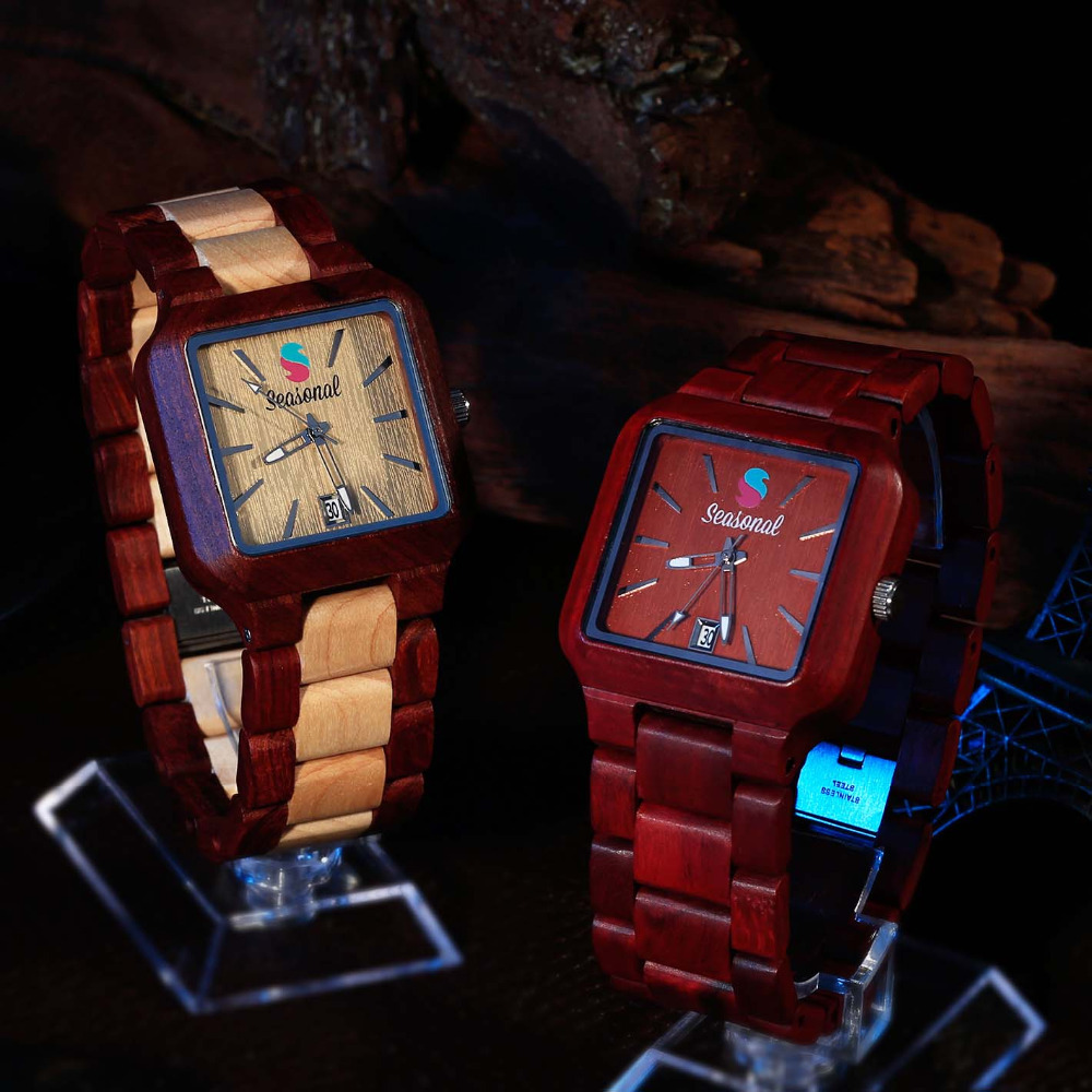 High Quality Japanese Movement Quartz Watch Fashion Seasonal New Design Wooden Watch for Men Women Christmas