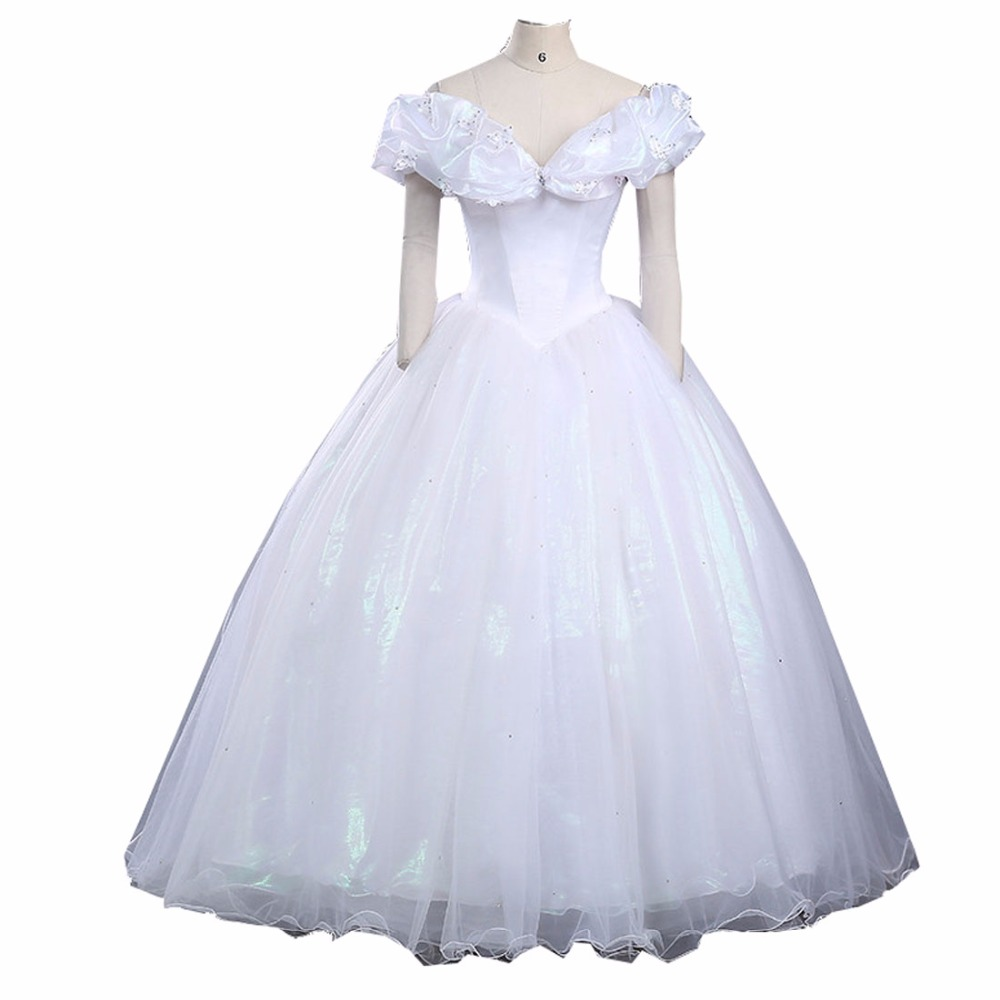 Princess Cinderella Wedding Dress Costume For: 2017 Custom Made Halloween Cosplay Adult Princess
