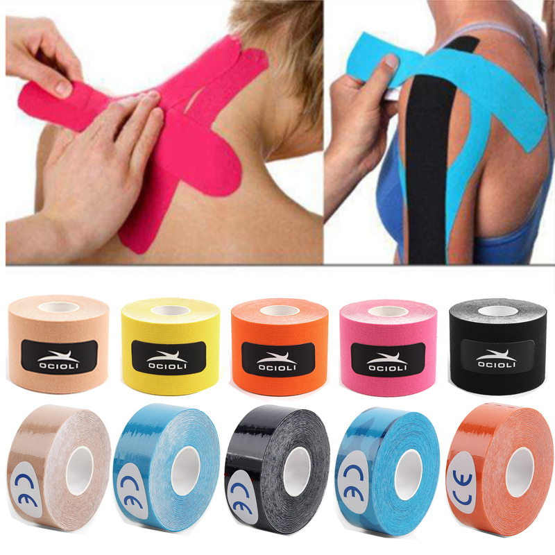 2 Size Fitness  Kinesiotape Athletic Kinesiology Tape Sport Recovery Tape Strapping Gym Tennis Running Knee Muscle Protector