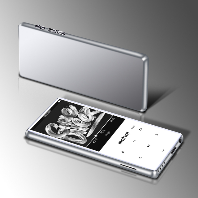 Metal Mp4 Player Ultrathin Built-in Speakers Lossless Portable Audio Players FM Radio Ebook Voice Recorder Video player