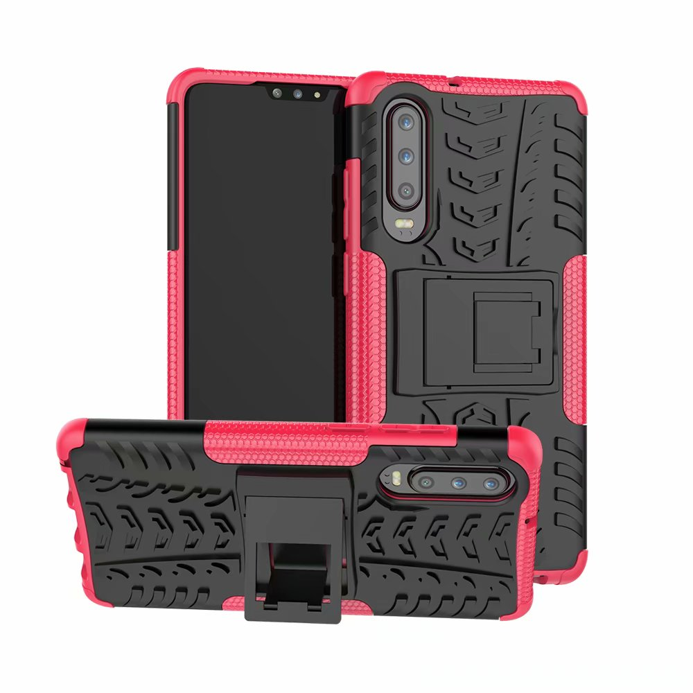 For Huawei P30 Case Hybrid Heavy Duty Armor Case For Huawei P30 ELE-L29 L09 Back Cover Stand Shockproof Phone Cover