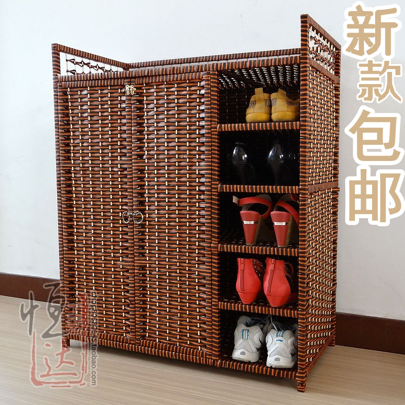 Buy large capacity 40s the brief 40s the for Schuhschrank rattan