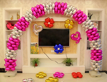 50pcs/lot 18 inch four-leaf clover air balloon Bell foil Balloon Heart round balloon birthday Wedding decoration Color Random