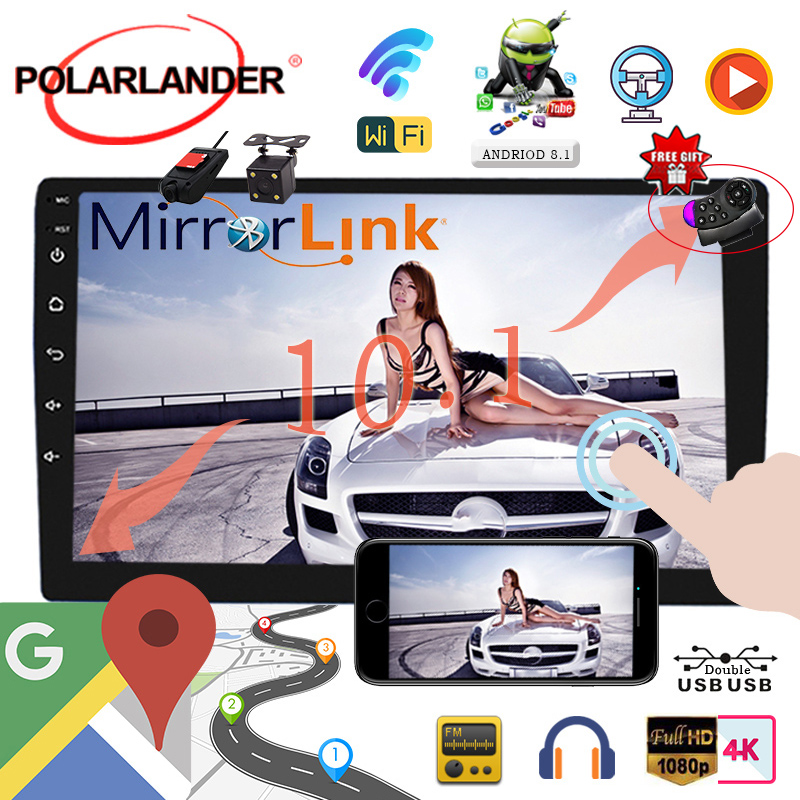 WIFI Bluetooth MP5 Player 2 din Player GPS NAVIGATION 10 inch Android 8 1 universal Car