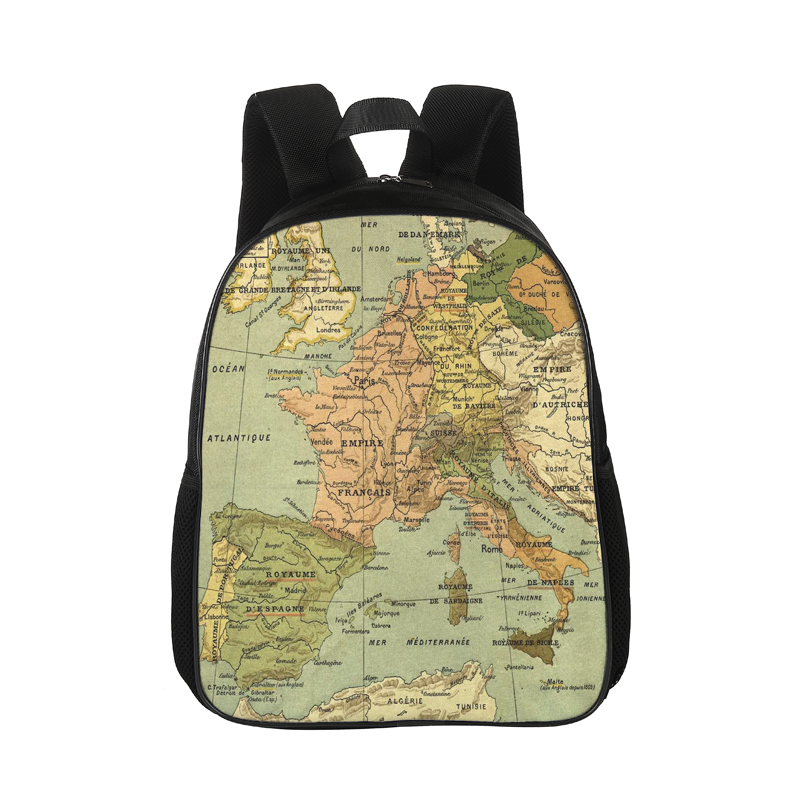 CROWDALE 15 Inch The Map Series Painting Backpack Canva Backpack School Bag For Girls Rucksack Female Travel Backpack 38*28*13CM