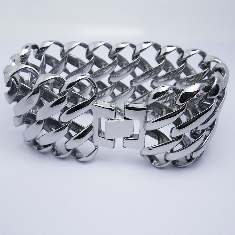 New design cool Punk party men boy Silver bracelet hand chain for ...