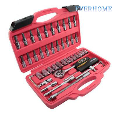 46 piece 1/4 metric sleeve assembly, ratchet wrench sleeve, auto parts sleeve, following tool,free shipping 14pcs the key with combination ratchet wrench auto repair set of hand tool kit spanners a set of keys herramientas de mano