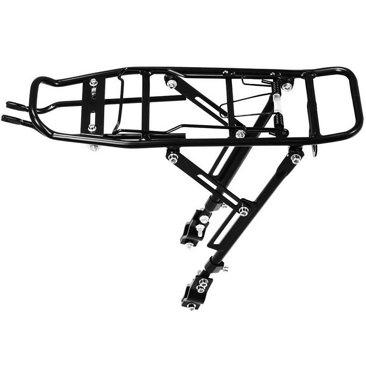 Buon affare-Lega Posteriore Della Bicicletta Pannier Rack Bag Carrier Bagagli Ciclo Mountain Bike Nero