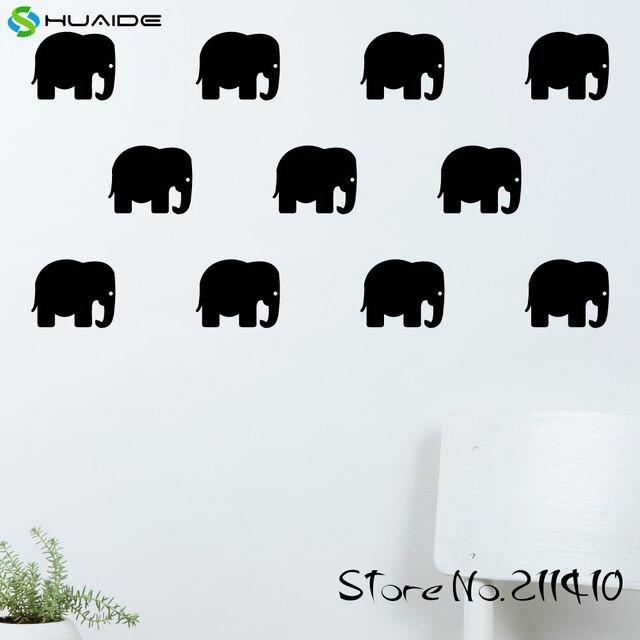 21 teile/satz elefant wand muster aufkleber aufkleber diy ...