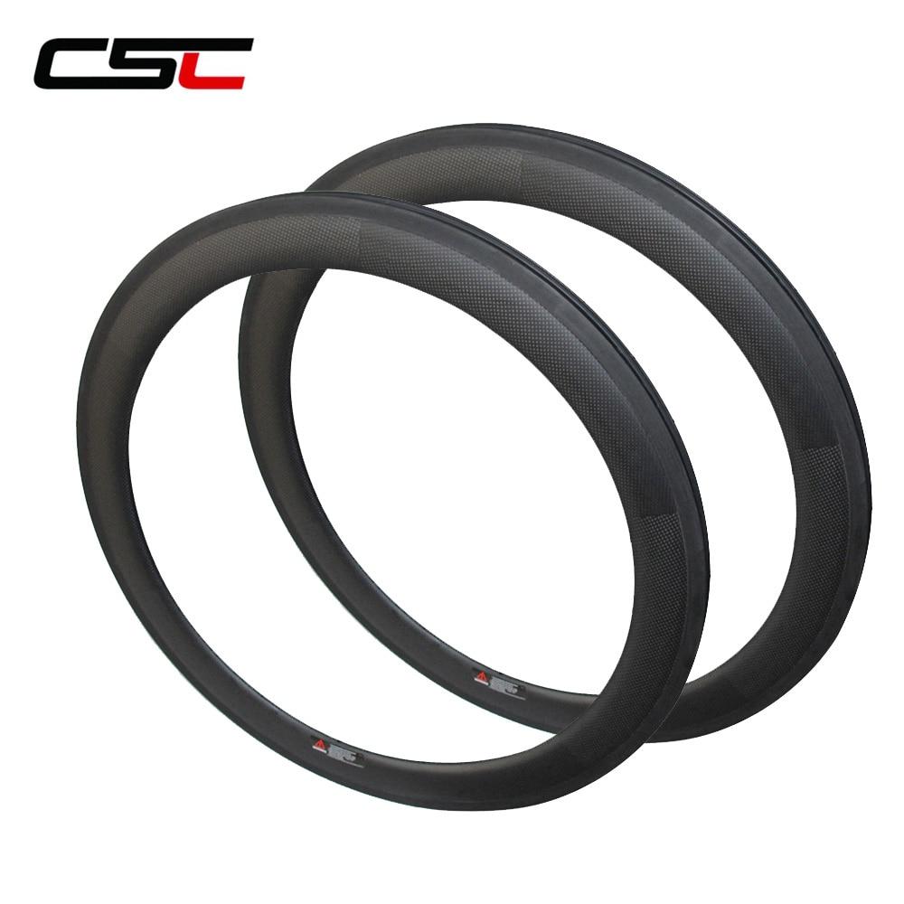 CSC Carbon Bike Rim,60mm Clincher Rim 25mm Width U Shape With 3K/UD Glossy Or Matte Finish