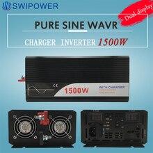 Falownik ups 1500W czysta fala sinusoidalna falownik z ładowarką 12V 24V 48v DC do AC 220V 230V 240v falownik solarny