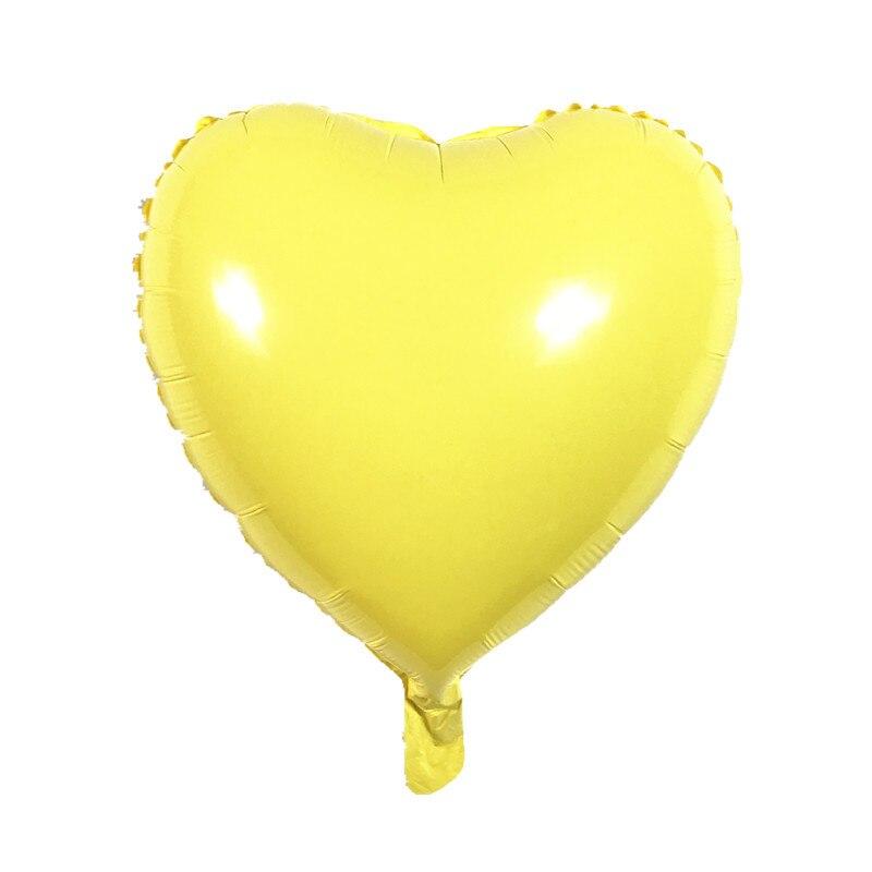 12 Pcs Ma Caron şeker Renk 18 Inç Globos Kalp Folyo Balonlar Bebek