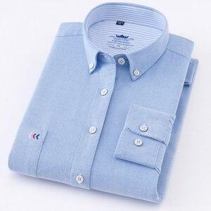 Image 2 - عالية الجودة رجل قمصان قميص قطني بكم طويل بلون فاخر الرجال قميص المهنية الأخضر الأبيض الذكور الملابس kamas دي Hombre