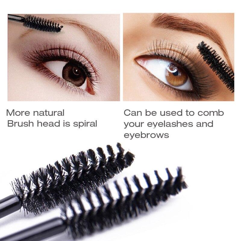50pcs/Pack Disposable Mascara Wands Eyelash Brush Mascara Applicator for Eye Lashes Micro Makeup Brush Eyelash Extension Tools 2