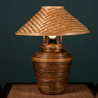 Creative retro garden style bamboo decorative table lamp features bed and breakfast hotel room bedside lamp WF4161354