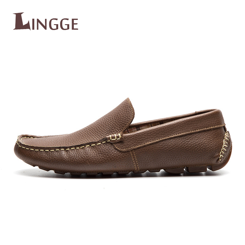 New Brand High Quality Genuine Leather Loafers Men Shoes Soft Moccasins Fashion Brand Men Flats Comfy Casual Driving Boat Men split leather dot men casual shoes moccasins soft bottom brand designer footwear flats loafers comfortable driving shoes rmc 395
