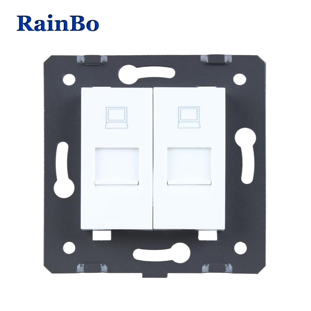 RainBo envío libre plástico blanco materiales UE estándar DIY accesorio dos llave de función para el zócalo de la computadora A28COW/B