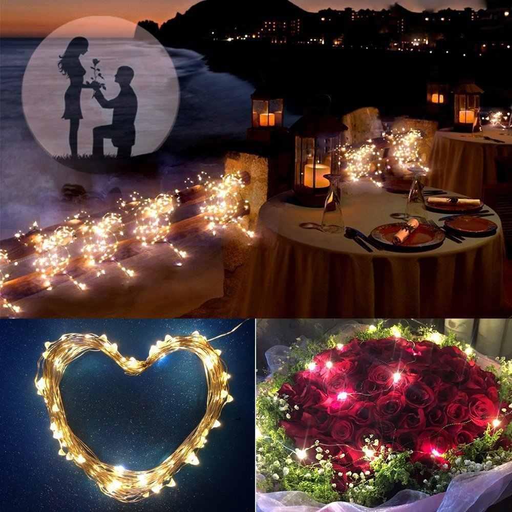 12 м/22 м Солнечная светодиодная гирлянда светодиодная лента медная проволока свет уличная гирлянда Рождественская гирлянда для вечерние свадьбы сад