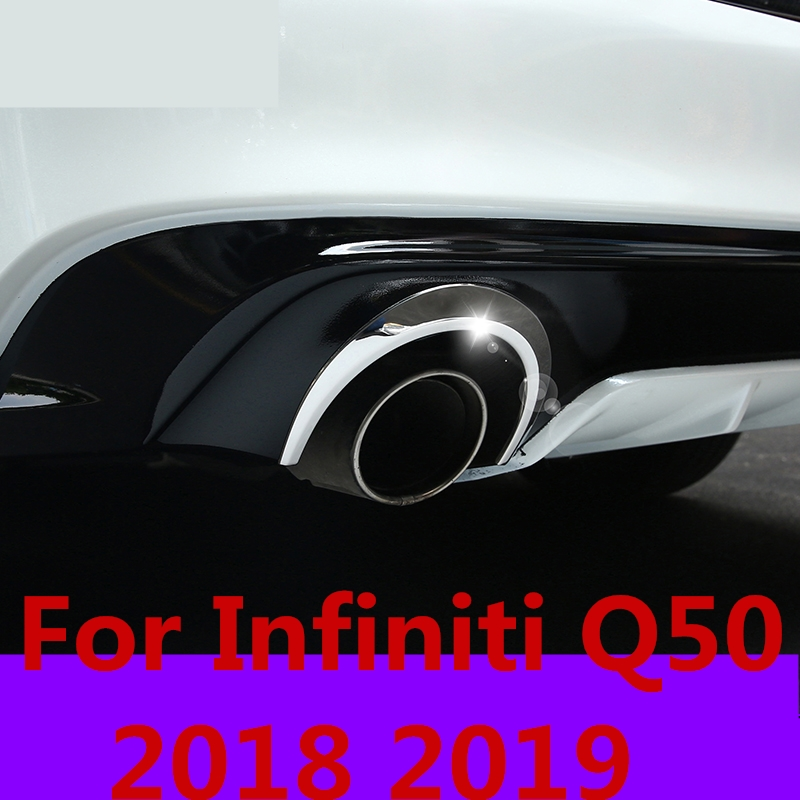For Infiniti Q50 2018 2019 Modification Rear Exhaust Strip
