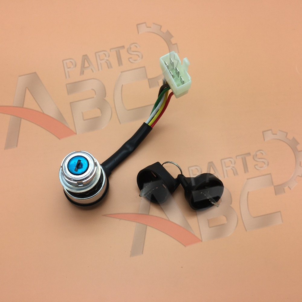 5 Wire Electric Start Ignition Switch 2 Key For 50 250cc Motorcycle ...