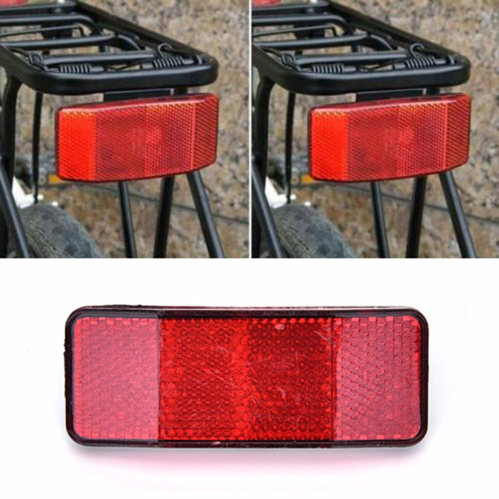 White New W Handlebar Mount Safe Reflector Bicycle Bike Front Rear Warning Red