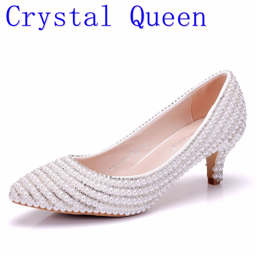 Crystal Queen Women Pumps Wedding Shoes Spring Bridal Shoes High Heels Shallow Mouth Thin Heels Dress Pointed Women Shoes электрический рубанок kolner kep 710 м