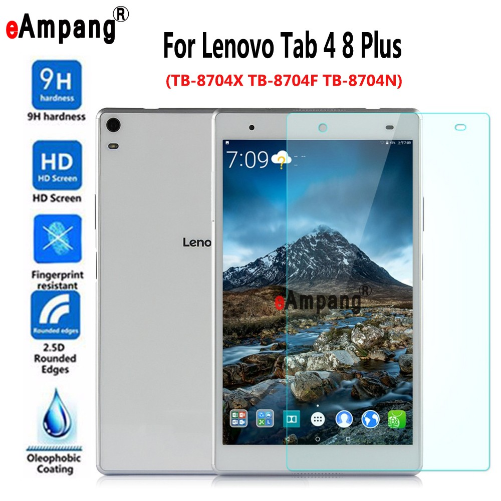Tempered Glass For Lenovo Tab4 Tab 4 8 Plus TB-8704X TB-8704F TB-8704N Clear Screen Protective Film Tablet PC Screen Protector 204 8x119 8mm tempered glass screen protector premium front clear protective film cover for digma plane 8 inch tablet