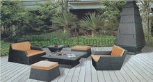 New pe wicker patio sofa set furniture manufacturer from China