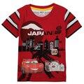 Nova de los bebés de 2016 nuevos niños del diseño de ropa de verano de manga corta 100% algodón de la historieta impresa camiseta del muchacho niños ropa de la parte superior