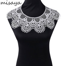 Misaya 1pc Big Lace Collar Wavy Edge High Quality Lace Neckline Fabric,Wedding Dress Collar Lace For Sewing Supplies Crafts(China)