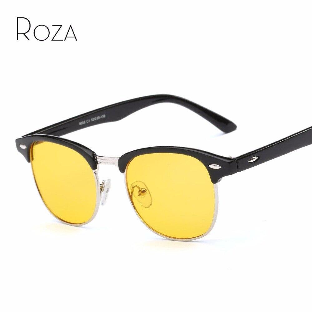 √ROZA Sunglasses Women Semi-Rimless Frame Brand Desinger Anti ...