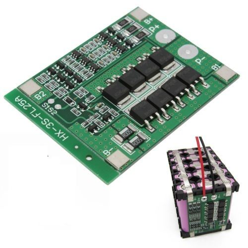 3S 25A Li-ion 18650 BMS PCM Battery Protection Board BMS PCM With Balance For Li-ion Lipo Battery Cell Pack Module Newest