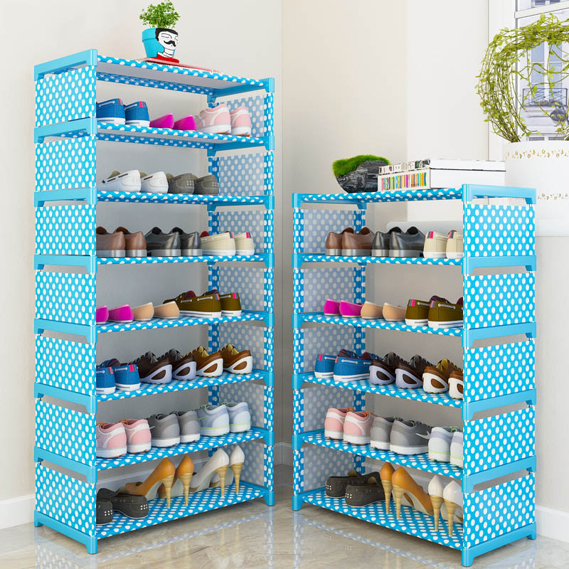 Multi Layer Shoes Rack Nonwovens Modern Simple Non-woven Fabric Foldable Furniture Home Storage Organizer Holder Space Saving non woven fabrics hanging type 18 cd dvd card holder beige