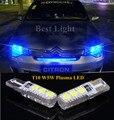 2 unids T10 W5W Bombilla de Plasma LED Luz de Estacionamiento Luces de Posición Laterales Para CITROEN C2 C3 C4 C5 Xsara Saxo Berlingo
