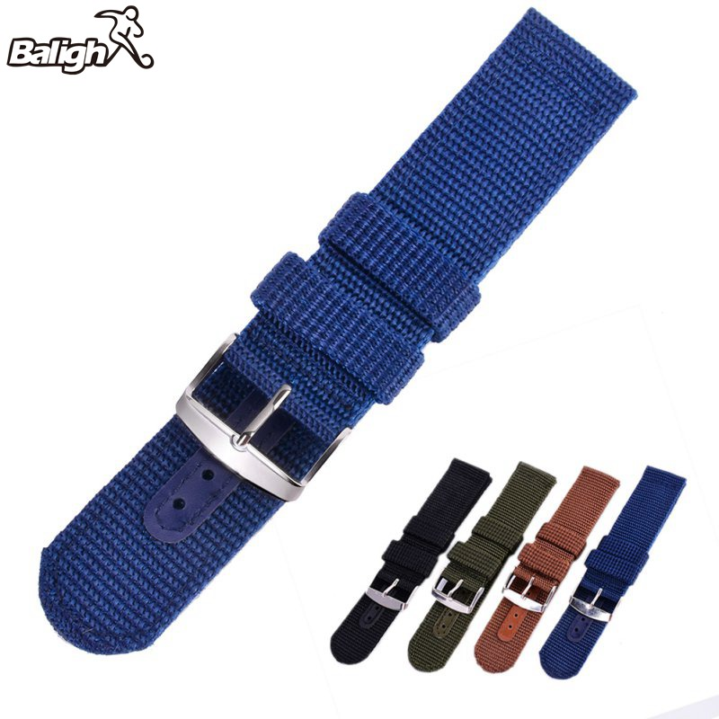 цена Military Army Nylon Wrist Watch Band Sports Outdoor Canvas Thicken Watches Strap