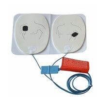 20 пар/лот первой помощи ЭКГ дефибрилляции электрод патч для AED тренер Применение