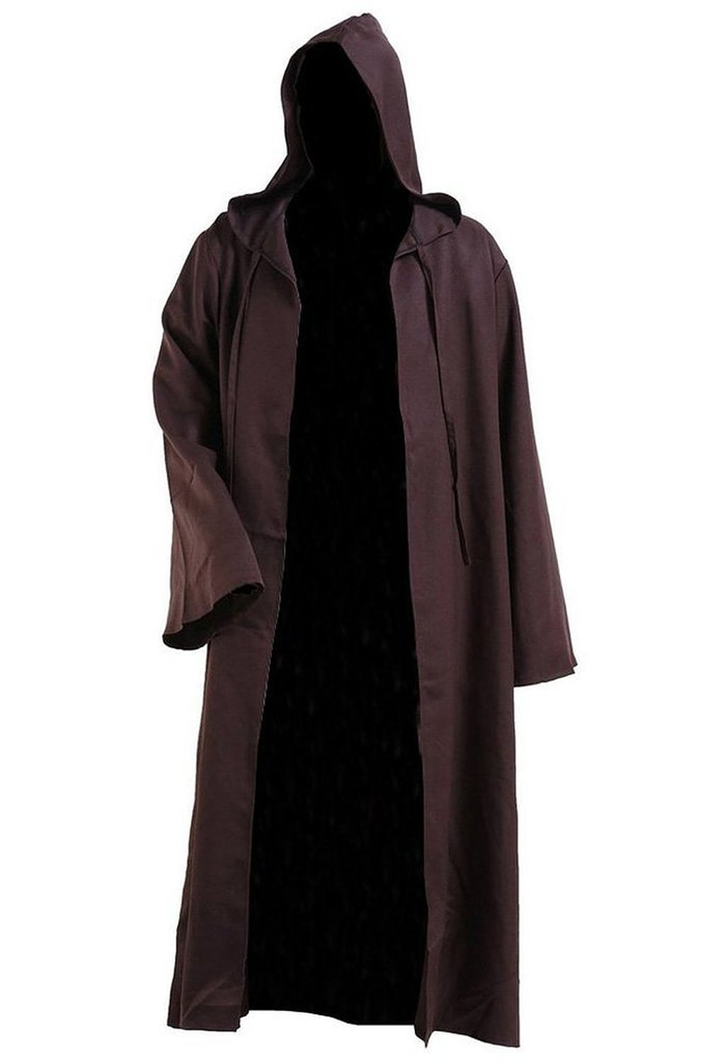 new arrival star wars kenobi jedi tunic men hooded brown