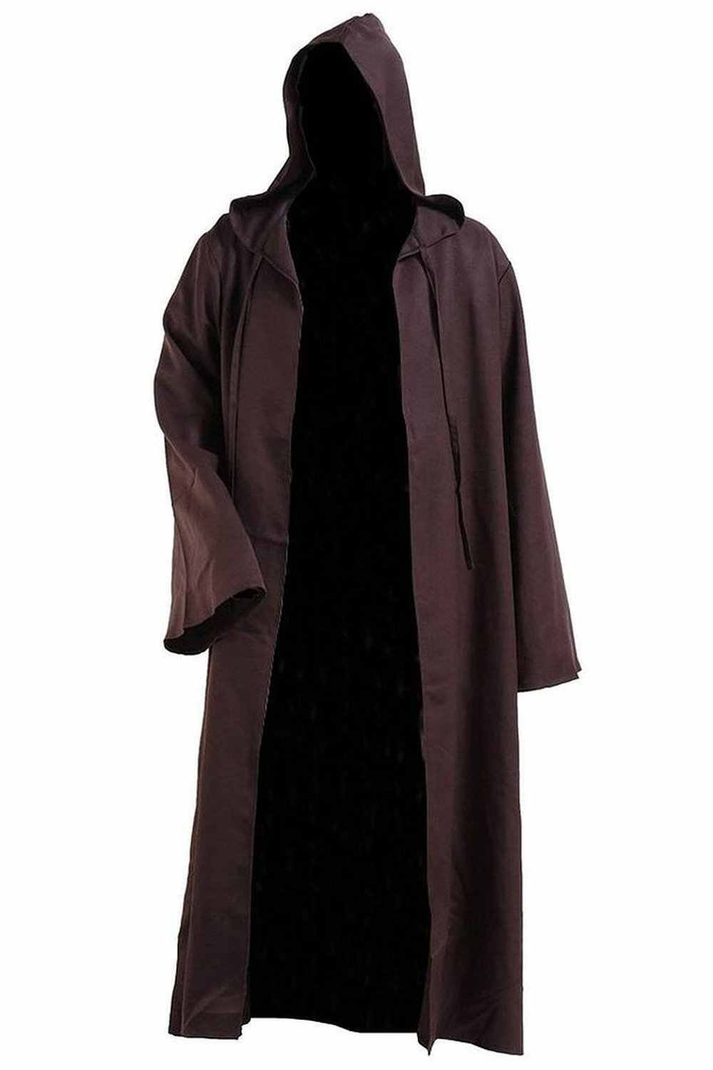 0797ac4162 New Arrival Star Wars Kenobi Jedi Tunic Men Hooded Brown Cape Robe Cosplay Costume  Cloak Outfit