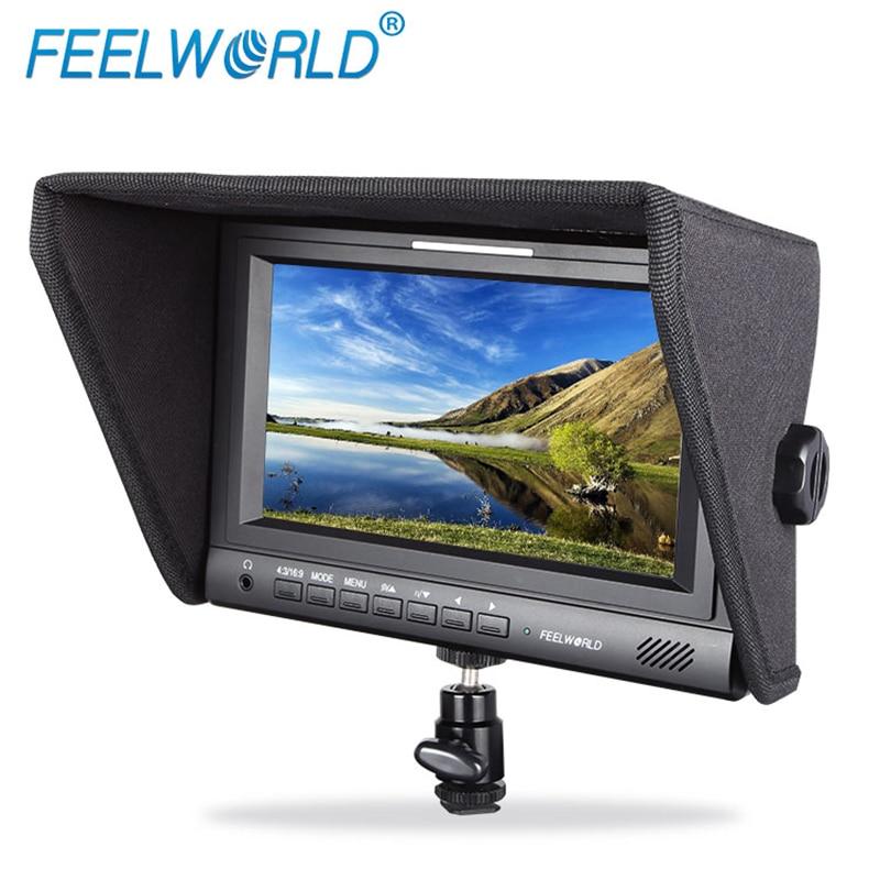 Feelworld FW679-HSD 7 Inch 3G-SDI HDMI On-camera Field Monitor with Tally YPbPr AV Input Photography Studio LCD Monitor
