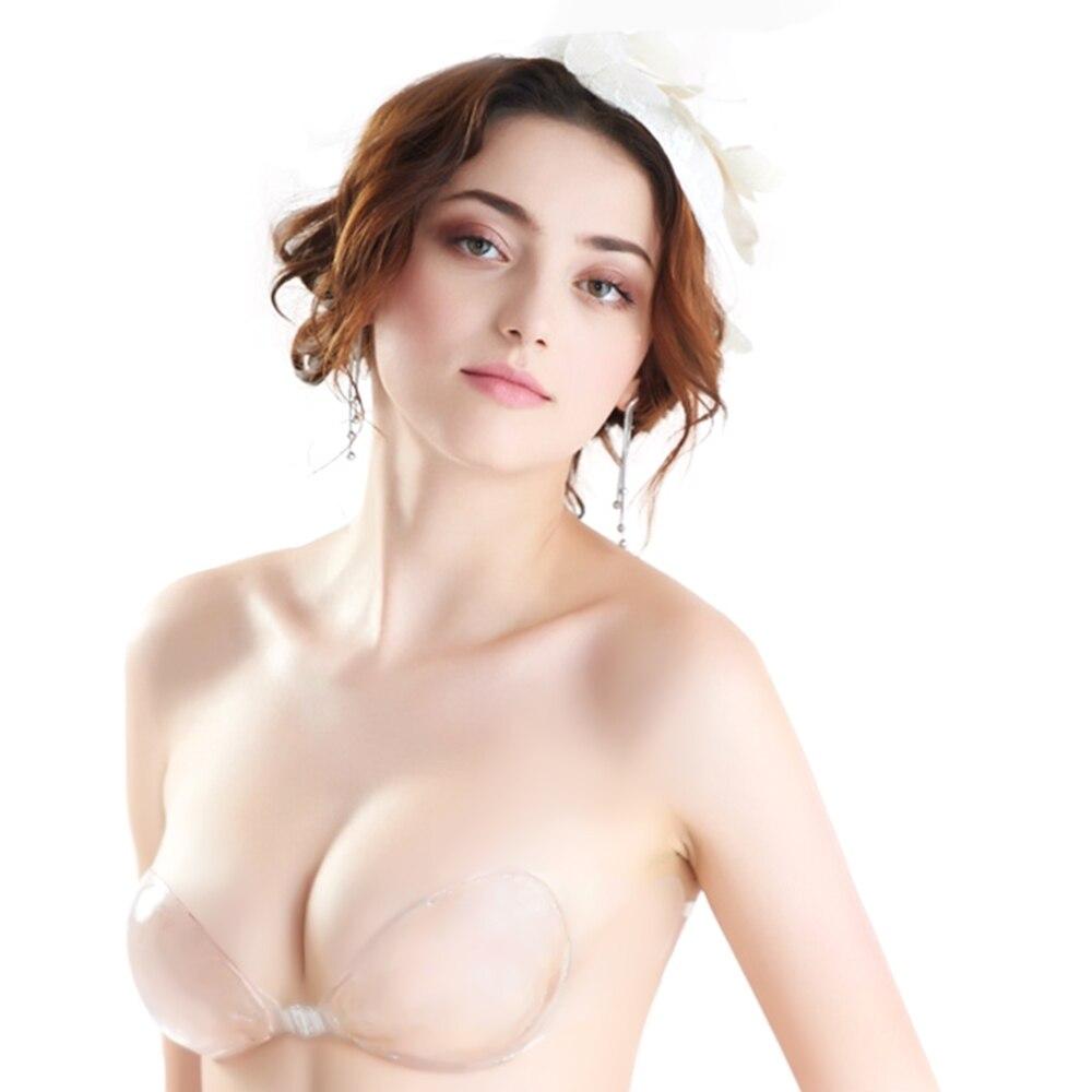 Invisible silicone Bra Super Breathable Strapless Bra Super Sexy Adhesive Bride Wedding Dress Invisible Push up Bra
