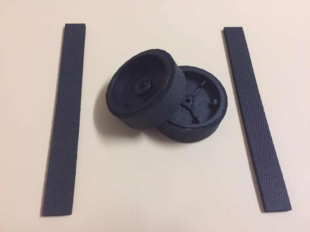 2 ruedas originales + 2 ruedas/neumáticos para iRobot braava 380 380t 320 390 381 390T Mint Plus 4200 5200C piezas de repuesto