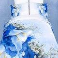 Ywxuege caliente! 100% algodón 3D pintura al óleo 4 unid lecho king queen ropa de cama de flores bedsheet / sábanas / edredón / juegos funda nórdica