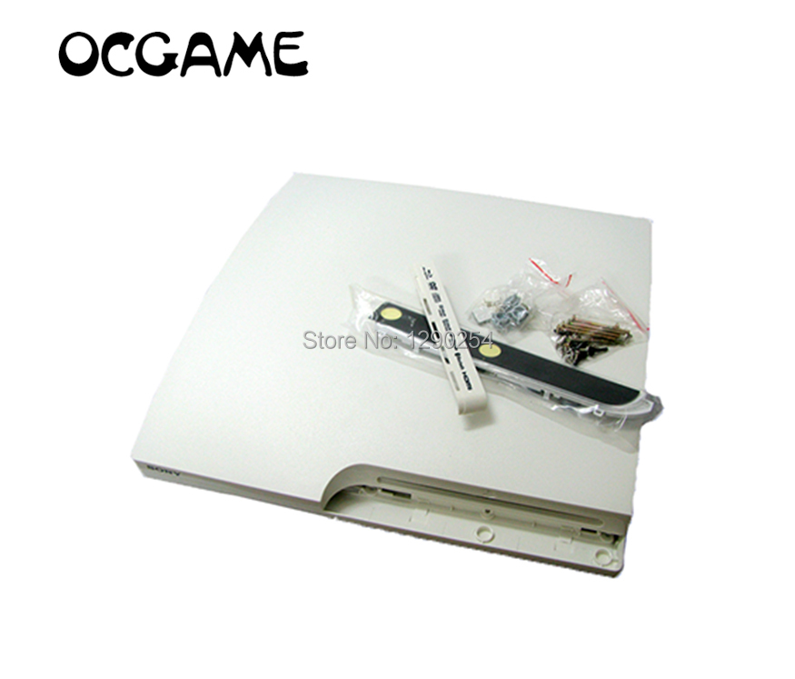 For Playstation 3 PS3 Slim High Quality White Full Housing Shell Case For PS3 Slim OCGAME
